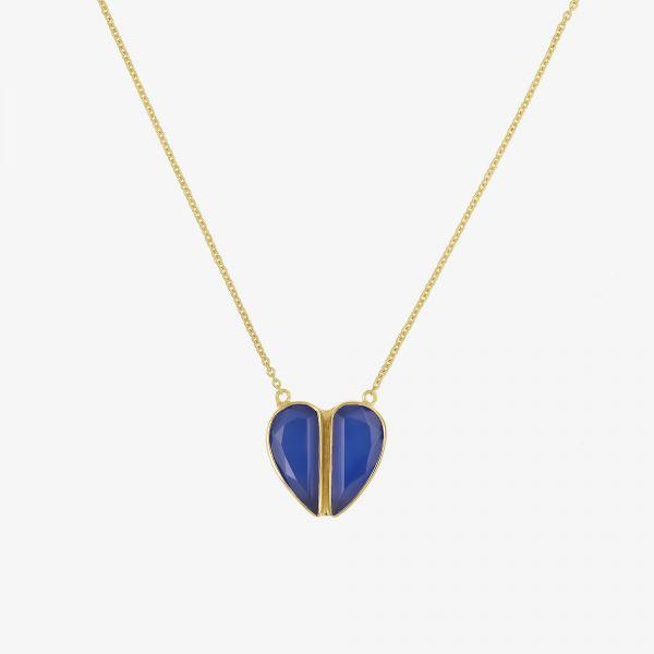 MON COEUR (Calcédoine bleue)
