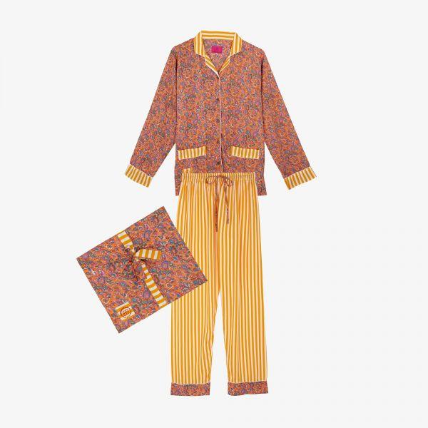 Pyjama indien jaune/orangé