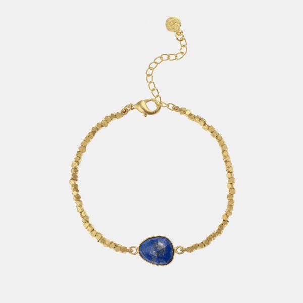 Caroline de Benoist ring square game Lapis lazuli