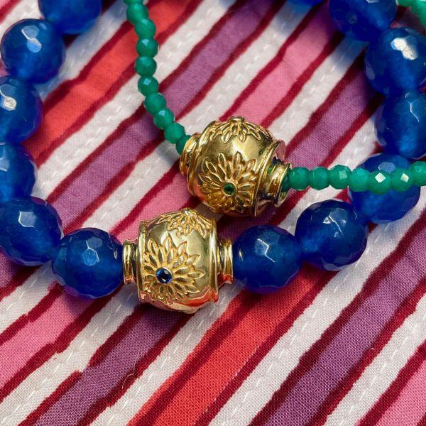 MOTEE (Bracelet large bleu)
