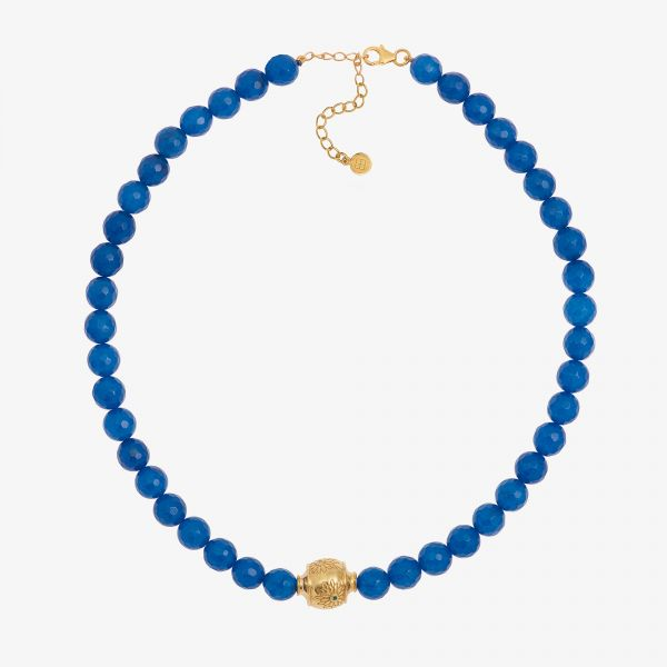 MOTEE (Collier large bleu)