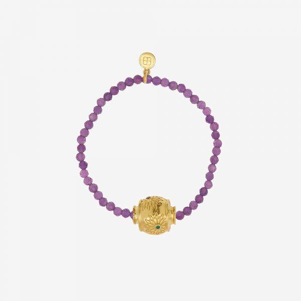 MOTEE (Bracelet fin violet)