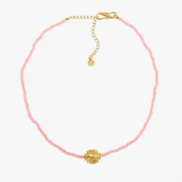 MOTEE (Collier fin rose)
