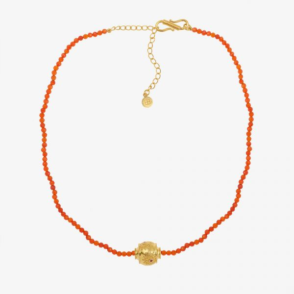 MOTEE (Collier fin orange)