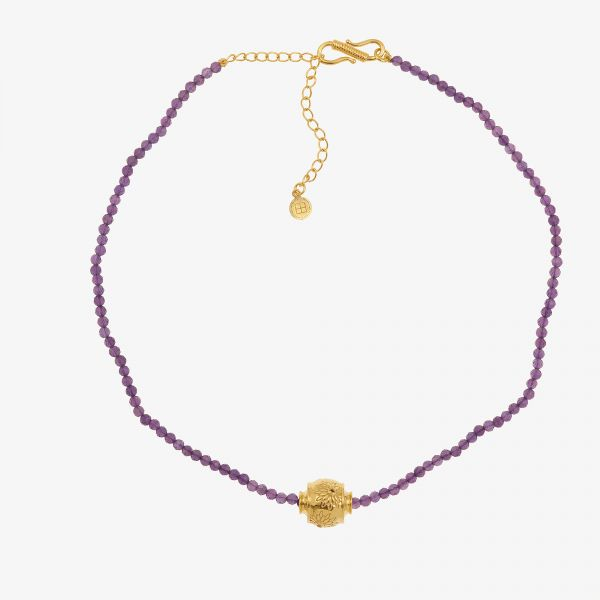 MOTEE (Collier fin violet)