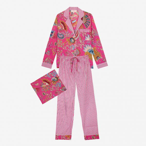Pyjama indien (coton rose /...