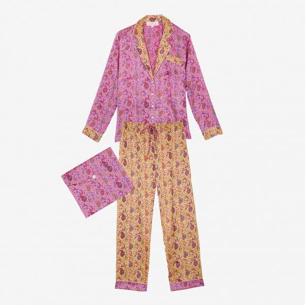 Pyjama indien (satin rose...