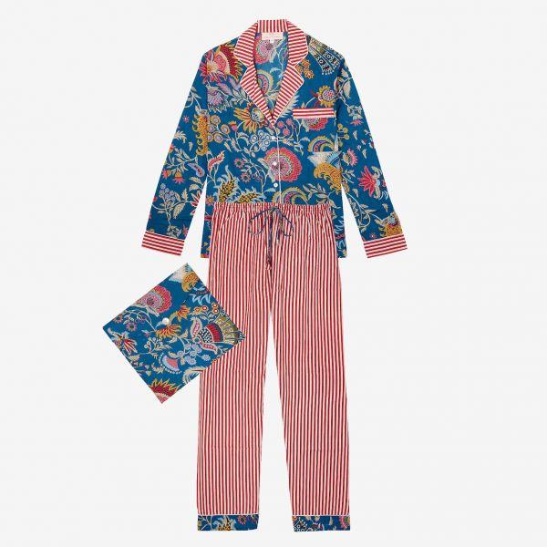 Pyjama indien (coton bleu /...
