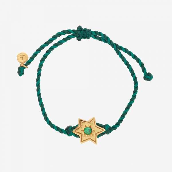 MESSAGER ETOILE Bracelet vert
