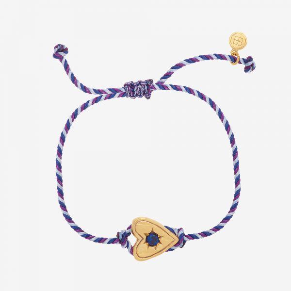 MESSAGER COEUR Bracelet (bleu)