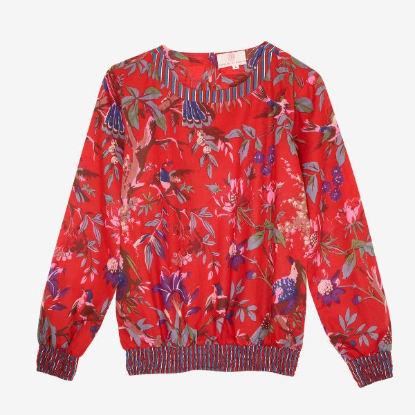 TOP-SWEAT (Coton rouge /...