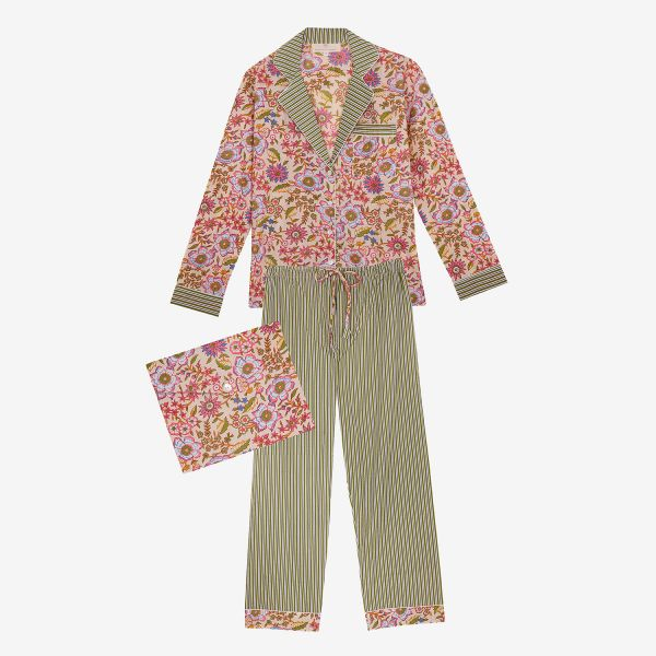 Pyjama indien (coton ivoire...