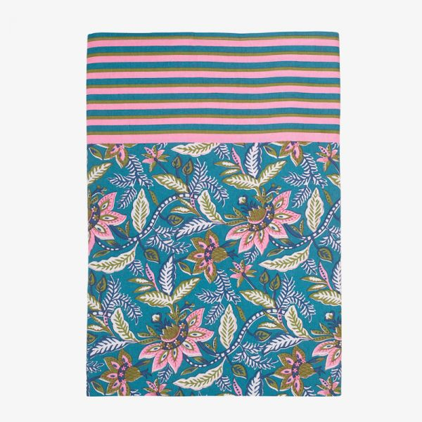 NAPPE INDIENNE BLEUE CANARD
