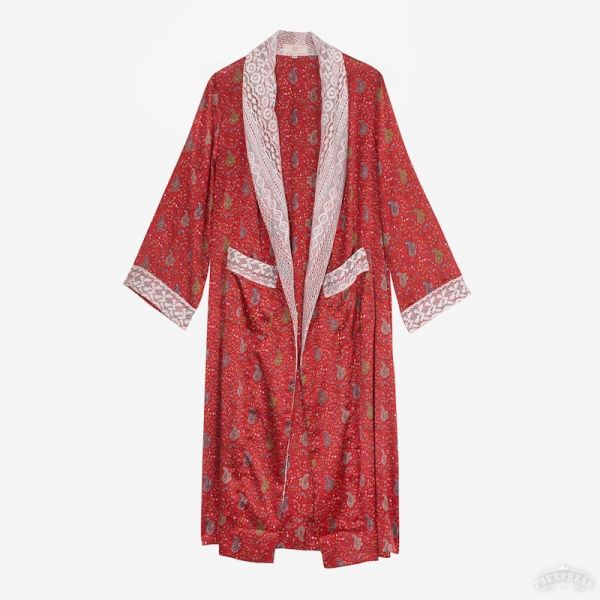 Kimono indien long (satin...