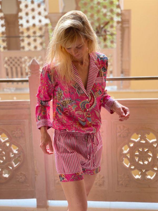 Pyjama indien short (coton...