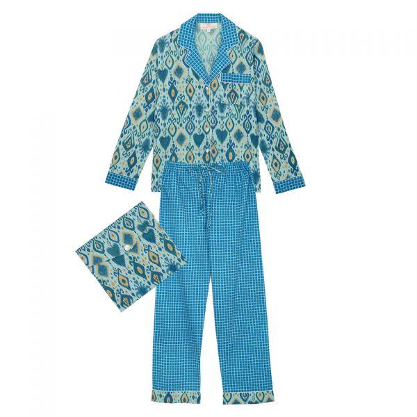 Pyjama indien (lamé bleu /...